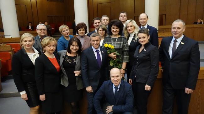 С коллегами депутатами