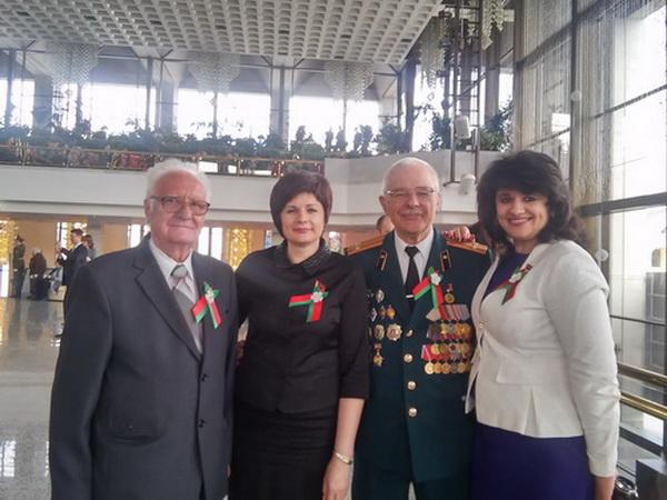 На торжественном собрании, посвящённом 72-летию Победы в Великой Отечественной войне.