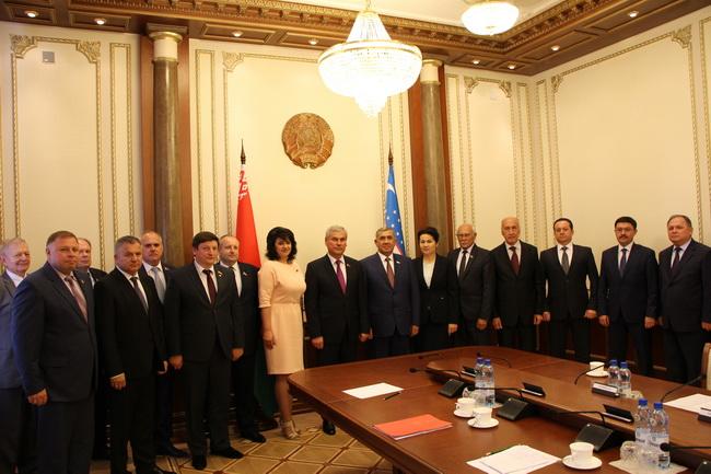 На встрече с Председателем Сената Олий Мажлиса Республики Узбекистан Юлдашевым Н.Т.