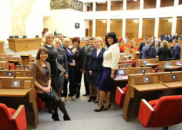С коллегами на открытии третьей сессии Палаты представителей