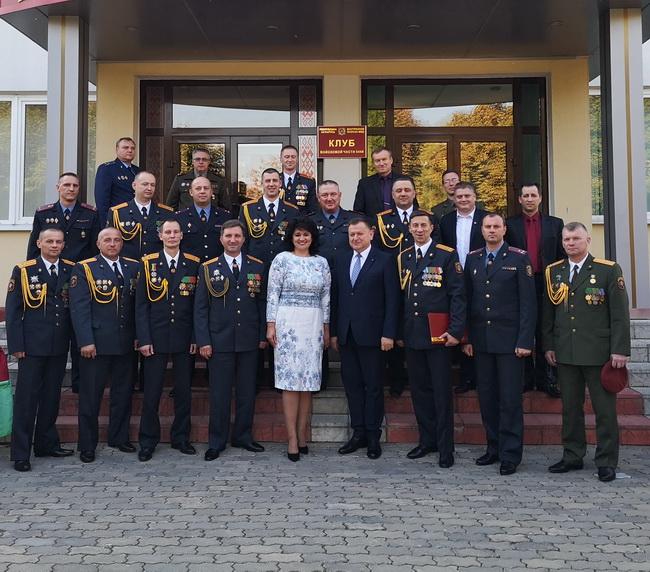 На торжественном меоприятииЮ посвященном 53-ей годовщине образования воинской части 5448