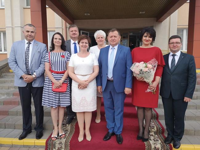 На торжественной церемонии чествования лучших выпускников Ленинского  района г. Минска