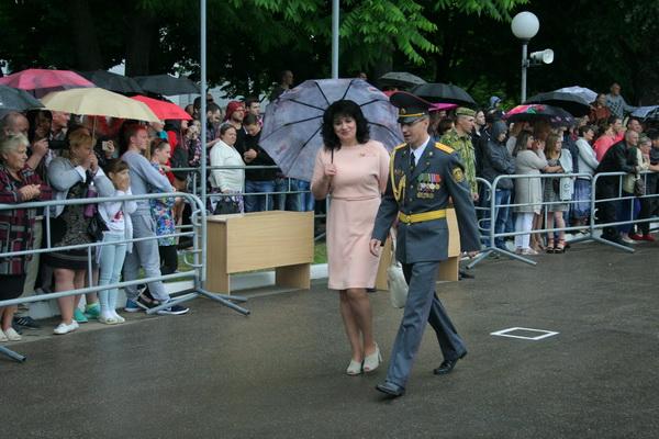 На торжественной церемонии принятия военной присяги в воинской части 5448