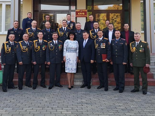 На торжественном мероприятии,  посвященном 53-ей годовщине образования воинской части 5448